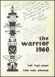 Page 5, 1960 Edition, Hall High School - Warrior Yearbook (Little Rock, AR) online yearbook collection