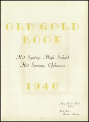 Page 5, 1946 Edition, Hot Springs High School - Old Gold Book Yearbook (Hot Springs, AR) online yearbook collection