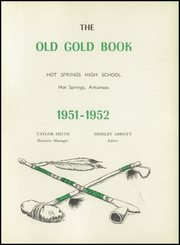 Page 5, 1952 Edition, Hot Springs High School - Old Gold Book Yearbook (Hot Springs, AR) online yearbook collection