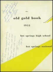 Page 6, 1953 Edition, Hot Springs High School - Old Gold Book Yearbook (Hot Springs, AR) online yearbook collection