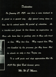 Page 15, 1959 Edition, Hot Springs High School - Old Gold Book Yearbook (Hot Springs, AR) online yearbook collection