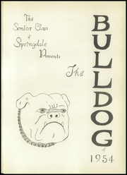 Page 5, 1954 Edition, Springdale High School - Bulldog Yearbook (Springdale, AR) online yearbook collection