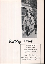 Page 5, 1964 Edition, Springdale High School - Bulldog Yearbook (Springdale, AR) online yearbook collection