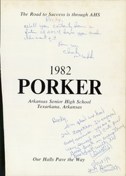 Page 5, 1982 Edition, Arkansas High School - Porker Yearbook (Texarkana, AR) online yearbook collection