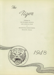 Page 7, 1948 Edition, Bentonville High School - Tiger Yearbook (Bentonville, AR) online yearbook collection