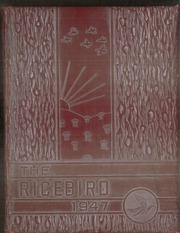1947 Edition, Stuttgart High School - Ricebird Yearbook (Stuttgart, AR)