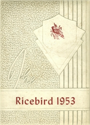 1953 Edition, Stuttgart High School - Ricebird Yearbook (Stuttgart, AR)