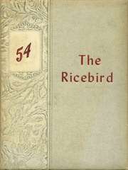 1954 Edition, Stuttgart High School - Ricebird Yearbook (Stuttgart, AR)