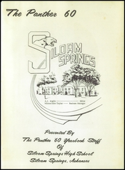 Page 5, 1960 Edition, Siloam Springs High School - Panther Yearbook (Siloam Springs, AR) online yearbook collection
