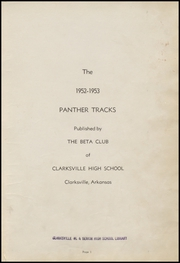 Page 5, 1953 Edition, Clarksville High School - Panther Tracks Yearbook (Clarksville, AR) online yearbook collection