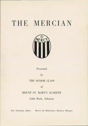 Page 5, 1953 Edition, Mount St Mary Academy - Mercian Yearbook (Little Rock, AR) online yearbook collection