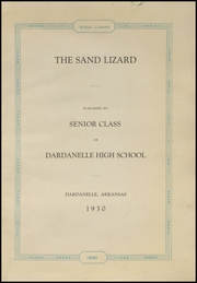 Page 5, 1930 Edition, Dardanelle High School - Sand Lizard Yearbook (Dardanelle, AR) online yearbook collection