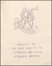 Page 7, 1940 Edition, Booneville High School - Reveille Yearbook (Booneville, AR) online yearbook collection