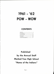 Page 3, 1962 Edition, Marked Tree High School - Pow Wow Yearbook (Marked Tree, AR) online yearbook collection