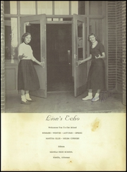 Page 5, 1955 Edition, Manila High School - Lions Echo Yearbook (Manila, AR) online yearbook collection