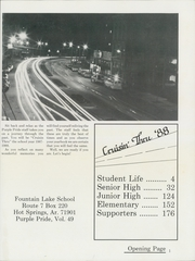 Page 5, 1988 Edition, Fountain Lake High School - Purple Pride Yearbook (Hot Springs, AR) online yearbook collection