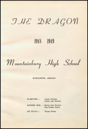 Page 7, 1949 Edition, Mountainburg High School - Dragon Yearbook (Mountainburg, AR) online yearbook collection