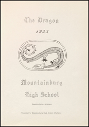 Page 7, 1953 Edition, Mountainburg High School - Dragon Yearbook (Mountainburg, AR) online yearbook collection