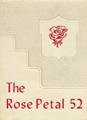 Glen Rose High School - Rose Petal Yearbook (Malvern, AR) online yearbook collection, 1952 Edition, Page 1