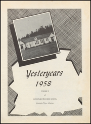 Page 5, 1958 Edition, Mountain Pine High School - Yesteryears Yearbook (Mountain Pine, AR) online yearbook collection