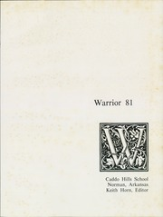 Page 5, 1981 Edition, Caddo Hills High School - Warrior Yearbook (Norman, AR) online yearbook collection