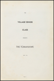 Page 7, 1958 Edition, Village High School - Tomahawk Yearbook (Village, AR) online yearbook collection