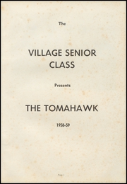 Page 5, 1959 Edition, Village High School - Tomahawk Yearbook (Village, AR) online yearbook collection