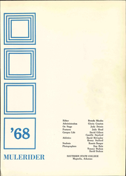 Page 7, 1968 Edition, Southern Arkansas University - Mulerider Yearbook (Magnolia, AR) online yearbook collection