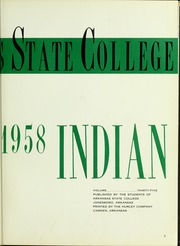 Page 7, 1958 Edition, Arkansas State University - Indian Yearbook (Jonesboro, AR) online yearbook collection