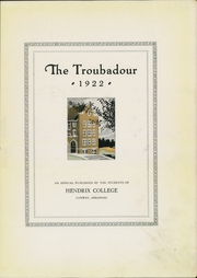 Page 7, 1922 Edition, Hendrix College - Troubadour Yearbook (Conway, AR) online yearbook collection