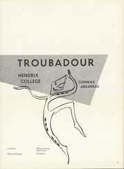 Page 7, 1960 Edition, Hendrix College - Troubadour Yearbook (Conway, AR) online yearbook collection