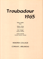 Page 7, 1965 Edition, Hendrix College - Troubadour Yearbook (Conway, AR) online yearbook collection