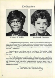 Page 8, 1973 Edition, Arkansas Baptist College - Buffalo Yearbook (Little Rock, AR) online yearbook collection