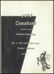 Page 5, 1956 Edition, William S Hart High School - Tomahawk Yearbook (Newhall, CA) online yearbook collection