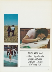 Page 5, 1973 Edition, Lake Highlands High School - Wildcat Yearbook (Dallas, TX) online yearbook collection