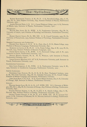 Page 17, 1912 Edition, Northwestern University - Syllabus Yearbook (Evanston, IL) online yearbook collection