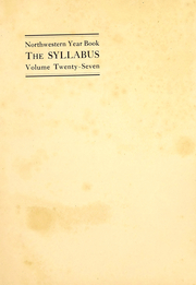 Page 3, 1912 Edition, Northwestern University - Syllabus Yearbook (Evanston, IL) online yearbook collection