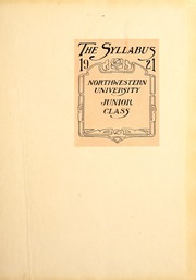 Page 5, 1921 Edition, Northwestern University - Syllabus Yearbook (Evanston, IL) online yearbook collection