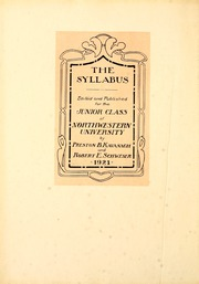 Page 6, 1921 Edition, Northwestern University - Syllabus Yearbook (Evanston, IL) online yearbook collection
