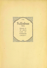 Page 3, 1925 Edition, Northwestern University - Syllabus Yearbook (Evanston, IL) online yearbook collection