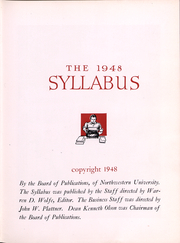 Page 3, 1948 Edition, Northwestern University - Syllabus Yearbook (Evanston, IL) online yearbook collection