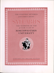 Page 5, 1948 Edition, Northwestern University - Syllabus Yearbook (Evanston, IL) online yearbook collection