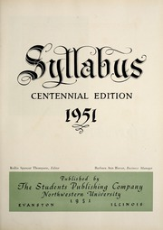 Page 9, 1951 Edition, Northwestern University - Syllabus Yearbook (Evanston, IL) online yearbook collection