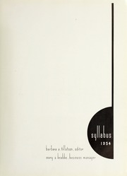 Page 5, 1954 Edition, Northwestern University - Syllabus Yearbook (Evanston, IL) online yearbook collection