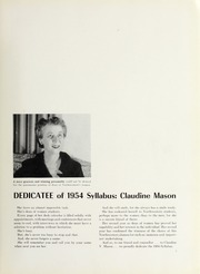 Page 9, 1954 Edition, Northwestern University - Syllabus Yearbook (Evanston, IL) online yearbook collection