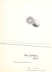 Page 5, 1957 Edition, Northwestern University - Syllabus Yearbook (Evanston, IL) online yearbook collection