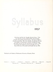 Page 6, 1957 Edition, Northwestern University - Syllabus Yearbook (Evanston, IL) online yearbook collection