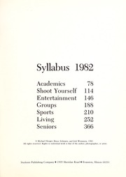 Page 5, 1982 Edition, Northwestern University - Syllabus Yearbook (Evanston, IL) online yearbook collection