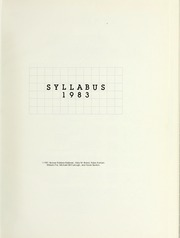 Page 5, 1983 Edition, Northwestern University - Syllabus Yearbook (Evanston, IL) online yearbook collection