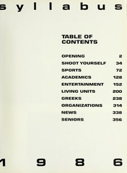 Page 5, 1986 Edition, Northwestern University - Syllabus Yearbook (Evanston, IL) online yearbook collection